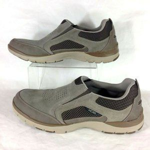 Rockport Kingston Slip On Shoes Brown Breathable